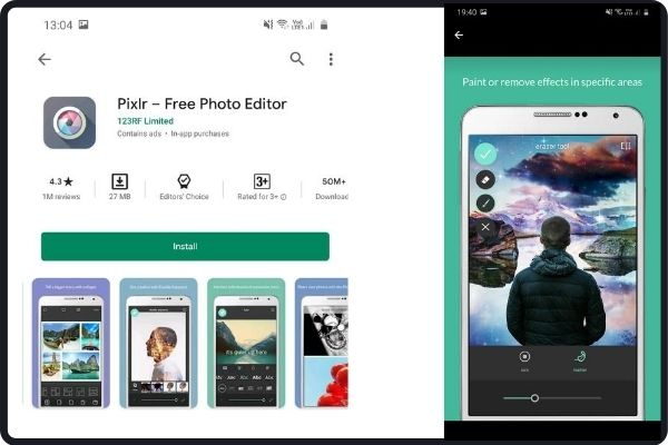 best editing apps: Pixlr
