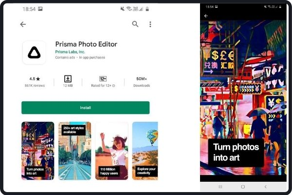 image editing apps: Prisma
