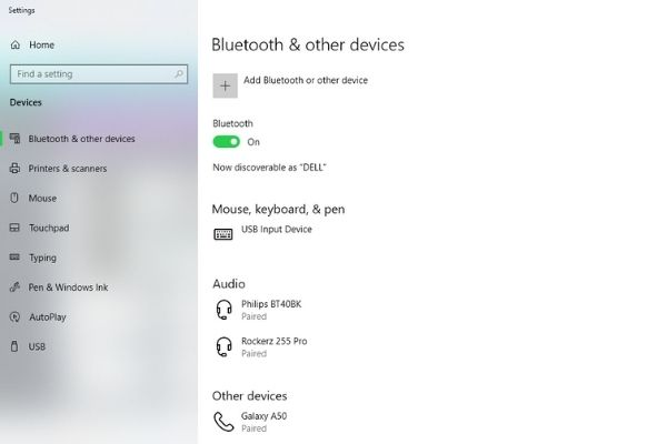 turn on bluetooth and add a device